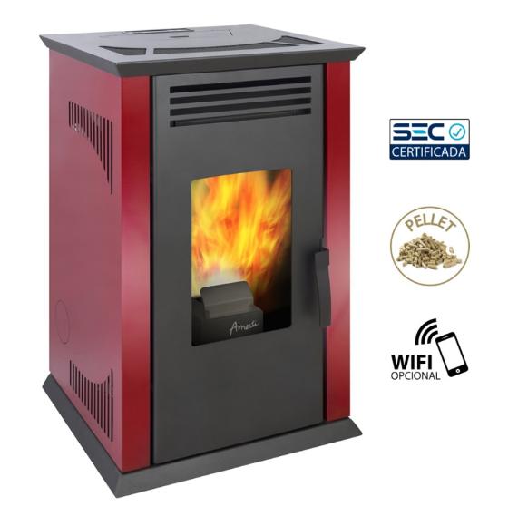 Calefactor a pellet Italy color Rojo Italinao